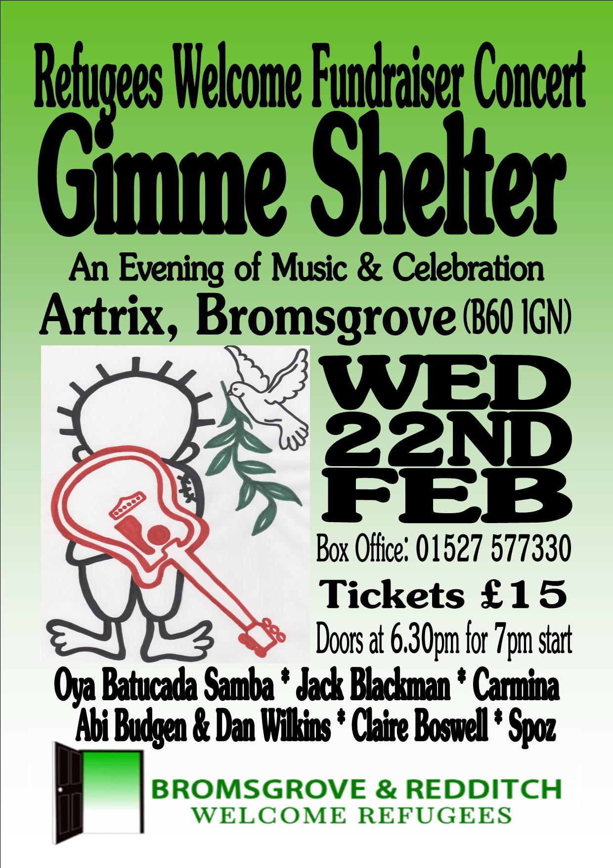 Gimme Shelter Concert – 22nd Feb 2017 - Bromsgrove and ...