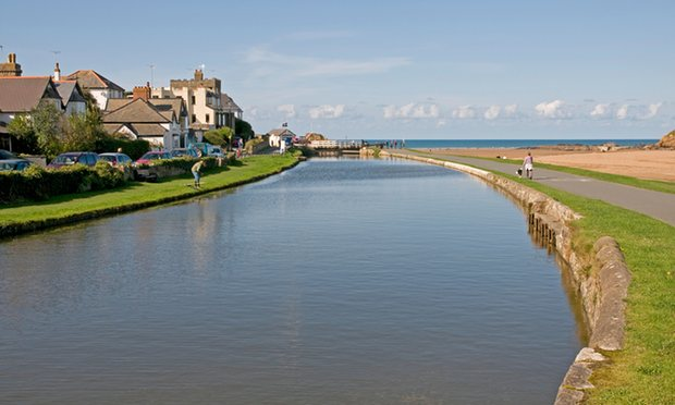 The canal at Bude in north Cornwall. Bude Welcomes Refugees is a 30-person group based in the seaside resort. Photograph: Michael Dutton/Alamy