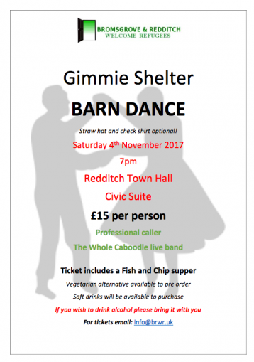 Gimmie Shelter Barn Dance 4th November 2017 Poster